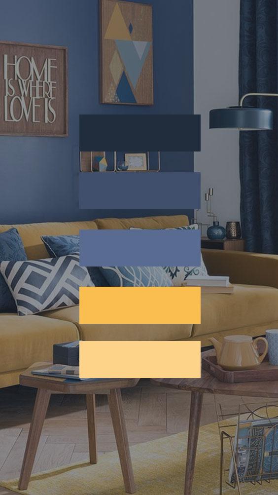 Colores: Combinar azul con amarillo